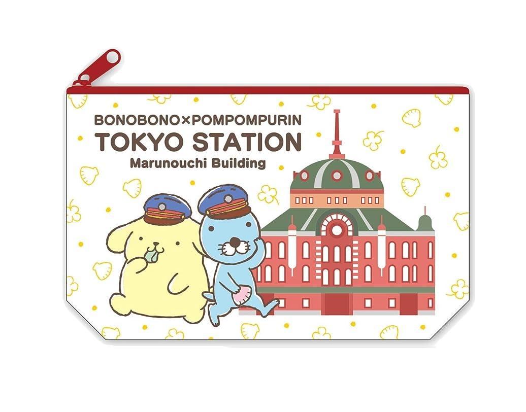 十分ピュー貼り直すぼのぼの×ポムポムプリン ポーチ(東京駅)