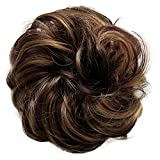 PRETTYSHOP Postizo Coletero Peinado alto, VOLUMINOSO, rizado, Moño descuidado marrón de la mezcla #32H26 G40A