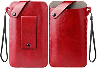 DFV mobile - New Design Holder Ultra Lightweight Belt Case with Snap Fastener for LeEco Le 2 Pro X25 - Red