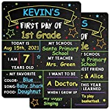 First & Last Day School Chalkboard - 10'' x 12'' First Day School Board - 1st Day Back to School Board Milestone Sign Photo Prop for Kids Boys Girls - Double-Sided & Reusable - Star Style