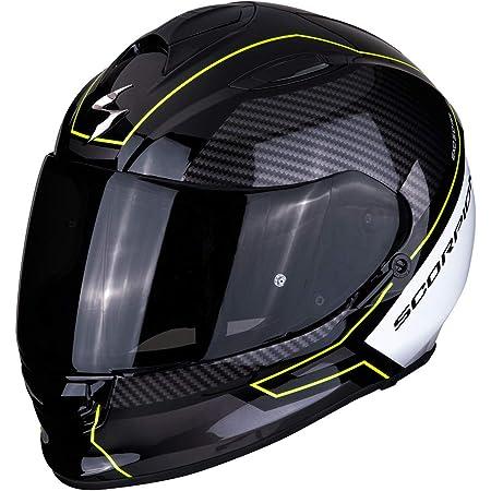 Scorpion Unisex Erwachsene Nc Motorrad Helm Schwarz Weiss Fluo M Auto