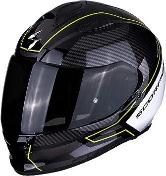 Scorpion Unisex Erwachsene Nc Motorrad Helm Schwarz Weiss Fluo S Auto