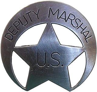 Ayudante Denix US sheriff estrella messingf. Sheriff Cowboy Western