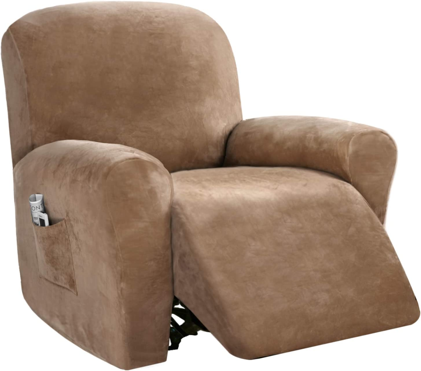 4 Piece Recliner Chair 55% OFF Cover Stretch Reclining Import Couch Rich Velvet