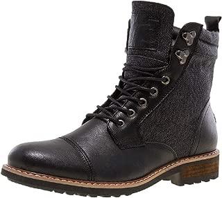 J75 Men's Garret Nylon Panel Military Style Side Zip Lug Sole Cap Toe Boot