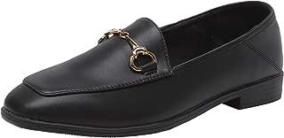 Modenpeak Women's Penny Loafers Slip On Leather Flats Shoes