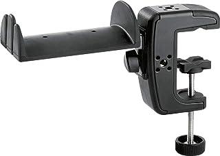 K&M ヘッドフォンホルダー 4方向可変クランプ付き 【16085】 カラー:ブラック