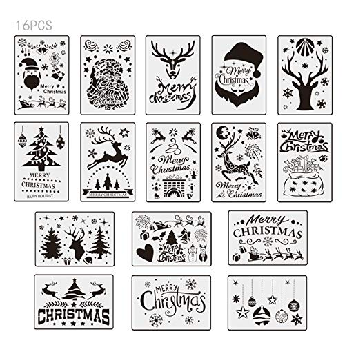 TDCQ Plantilla de Pintura Navideña,Plantillas Navideñas,Plantillas para Pintar Niños,Plantillas de Navidad para...