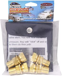 Adjustable Brass Tire Deflator - 4 Pieces