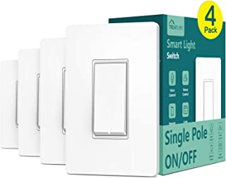 Single Pole Treatlife Smart Light Switch, 4 Pack, Neutral...