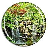 Weekino Stati Uniti America Rockford Anderson Japanese Gardens Calamità da frigo 3D Cristallo Bicchiere Tourist City Viaggio Souvenir Collezione Regalo Forte Frigorifero Sticker