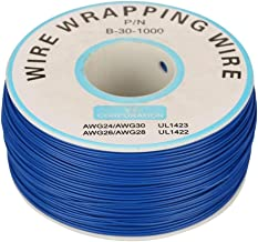 Electric Cable, 1 roll of 30AWG Single Strand Copper Wire Cable with 0.25 mm core Diameter (Blue)