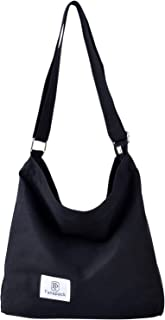 Umhängetasche Damen, Fanspack Handtaschen Damen Hobo Bag Canvas Damentaschen Groß Kapazität Schultertasche