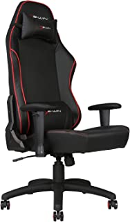 E-WIN Gaming 400 lb Big and Tall Office Chair,Ergonomic Racing Style Design with Wide Seat High Back Adjustable Armrest,Black Red