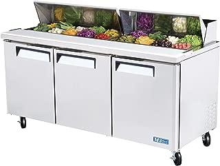 Turbo Air MST-72 3-Door Sandwich Salad Prep Table Refrigerator