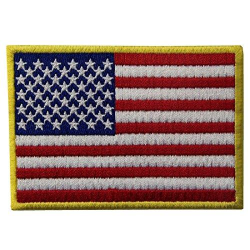 Amerikanische Flagge USA National Embroidered Iron Auf Nähen Auf Patch