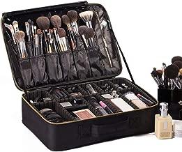 ROWNYEON Travel Makeup Bag Cosmetic Makeup Train Case Artist Makeup Organizer Professional Portable Storage Bag for Women Girl Waterproof EVA Adjustable Dividers 16.1