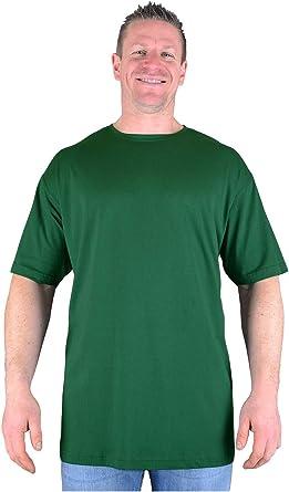 Big Mens Pat Long Tall T Shirt Nightshirt Cotton Large Plain Long Line Extreme Length Man M L XL 2XL 3XL 4XL 5XL 6XL 7XL 8XL