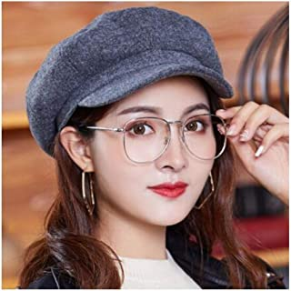 WYMAI Hat Autumn and Winter Fashion Wild Female Students in Autumn and Winter Octagonal Cap Beret Variety of Styles Simple and Practical Product (Color : Gray)