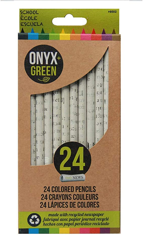 No Erasers Box Containing 140+ Colored Pencils. Light Green Colored Pencils