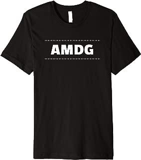 AMDG For the Greater Glory of God Latin St. Ignatius Quote Premium T-Shirt