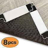 Rug Gripper 8 Pcs, Carpet Tape Premium Reusable Rug Gripper Tape Keep Carpet Neat No Residue Non Slip Rug Pad Area Rug Gripper Pad (8pcs)