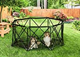 Carlson 8-Panel Foldable and Portable Steel Pet Exercise and Play Pen, with Carrying Case, Green