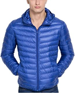 Howme Men Fashion Warm Light Weight Hooded Packable Puffer Down Jacket