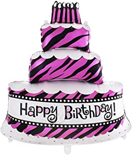 XXL Helium Folienballon Rot Geburtstag Kuchen Geschenk Torte Micky Minnie Maus