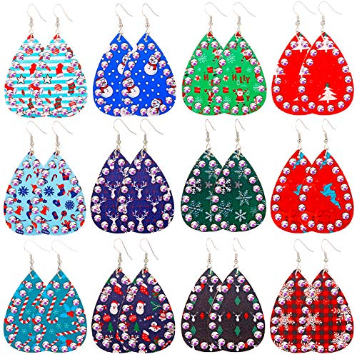 MTSCE 6-18 Pairs Women Christmas Earring Stud Set, Cute Festive Jewelry Hypoallergenic Christmas Gifts for Kids Teens Girls