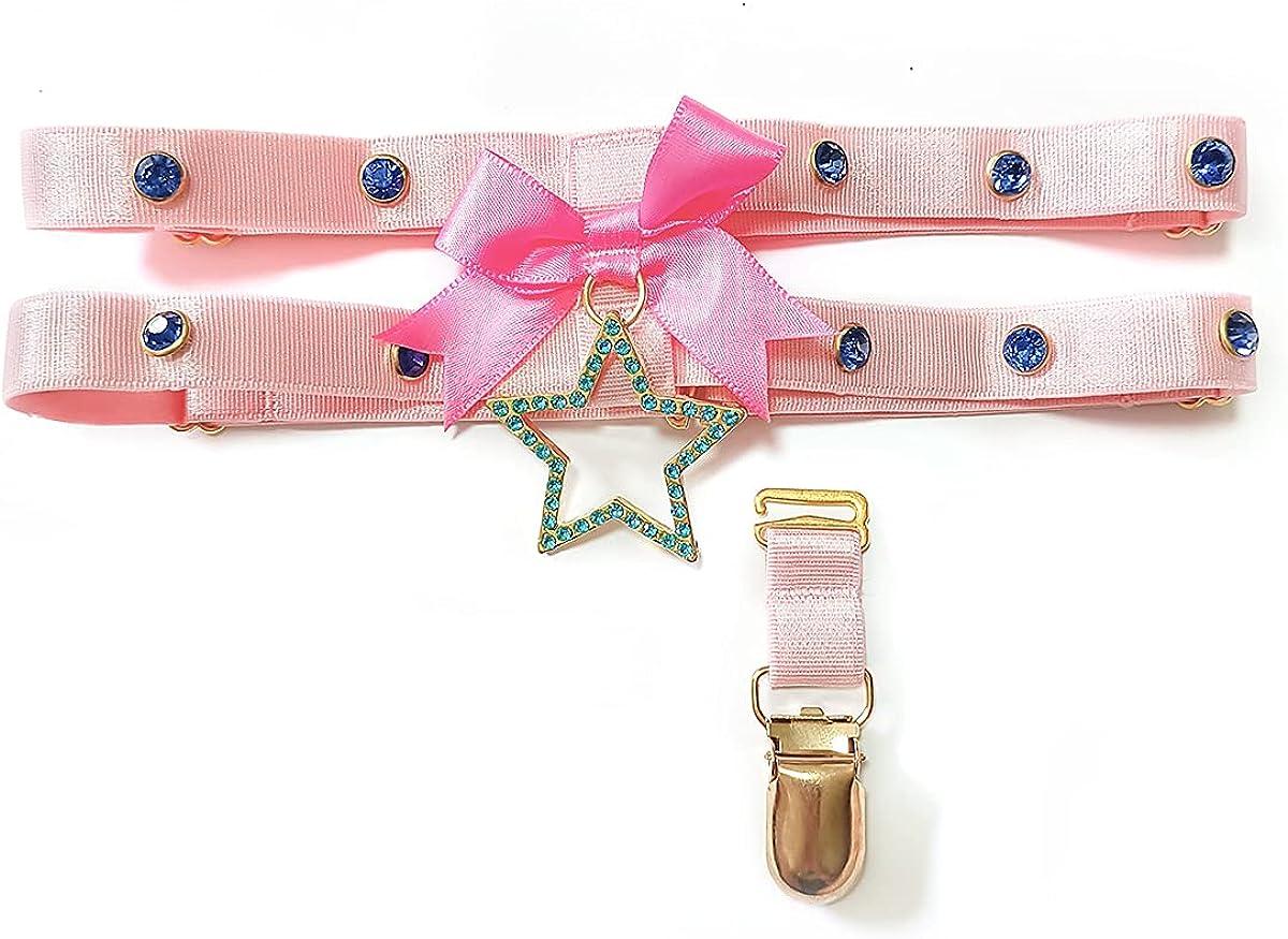 YENOOD Girls Lolita Thigh Garter Belt with Rhinestone Goth Harajuku Leg Chain Jewelry