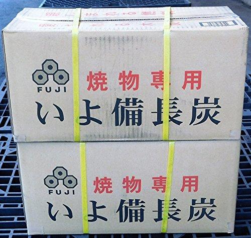 備長炭 炭 木炭 バーベキュー 富士炭化工業 焼物専用いよ備長炭(5-10cm)10kg 2箱セット 国産品最高峰のオガ炭