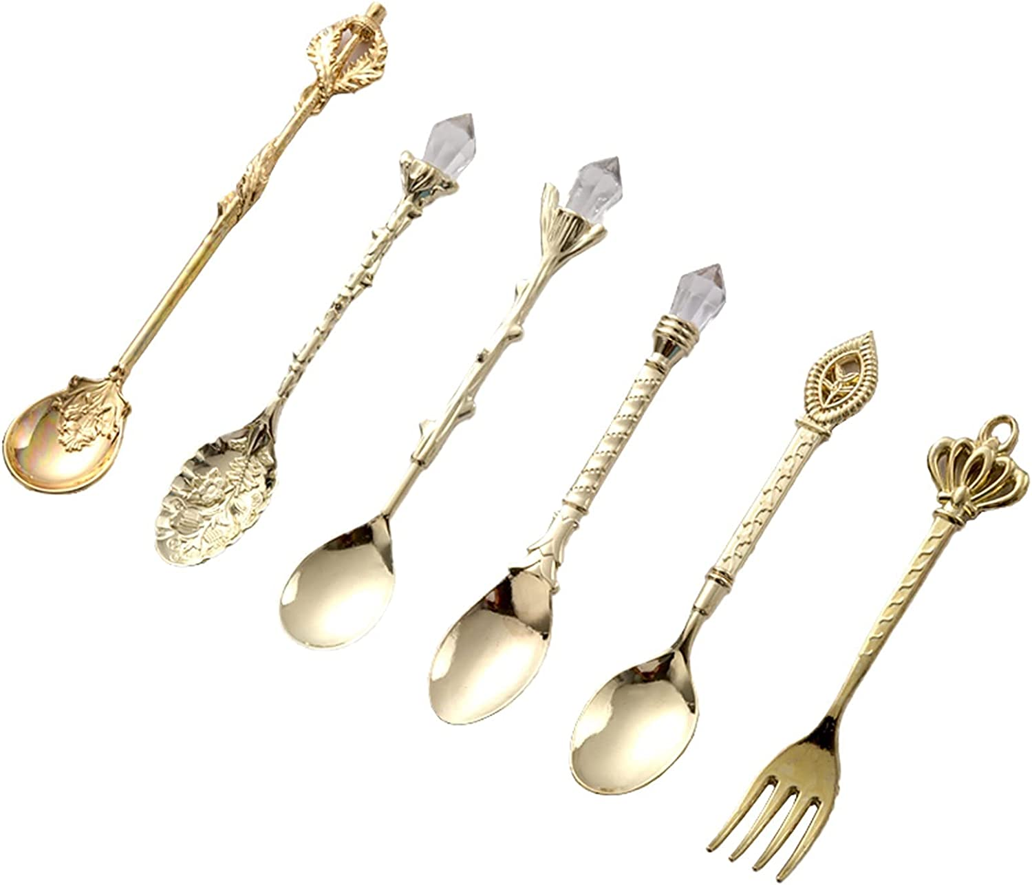 Retro Fixed price for sale Dessert Ranking TOP4 Spoon Cutlery Decoration Coffee Fruit Snack