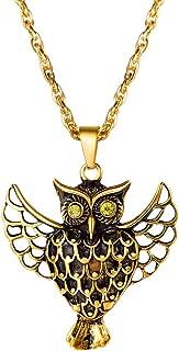 PROSTEEL Stainless Steel Owl Necklace Vintage Men Jewelry