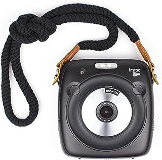 LXH Cámara de algodón Correa para el cuello con correa para el hombro para Leica Nikon Fuji Pentax Canon Panasonic Panasonic (Correa larga-Negro)