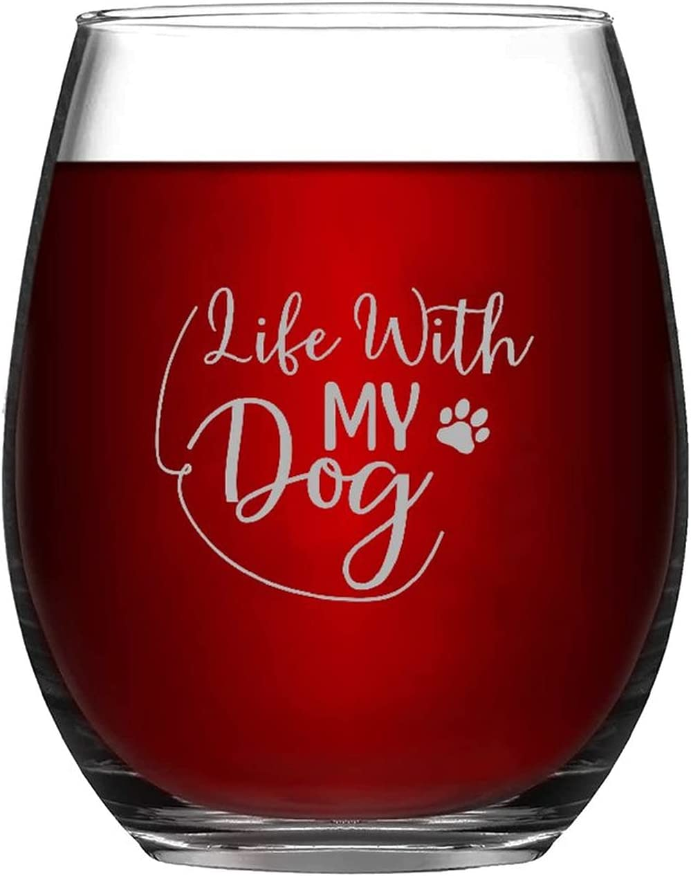 Funny Stemless Wine Glass Ranking TOP15 35% OFF Life With 11oz Drink Dog My Ware