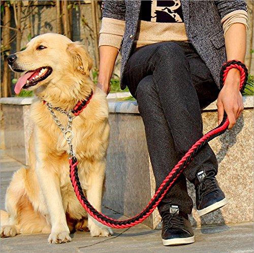 FinerMe Big Dog Leash/Dog Chain/Traction Rope Adjustable Loop Slip Pet Dog Leashes Rope Snap Training Lead Medium/Large/x-Large