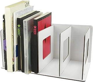 DIY Wooden 4 Sections Desktop Book Rack Bookshelf CD Stand Shelf Book Tidy Storage Rack Desk Supply File Sorter Organiser,...