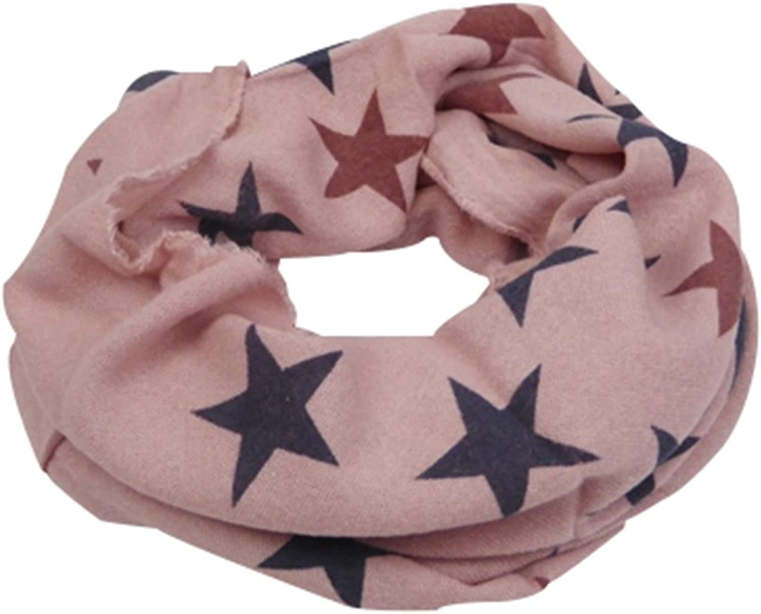 Stylish Infinity Loop Scarf with bluee Pink Stars Sternen Print  Pink