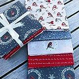 Weihnachtsstoffpaket – 5 verschiedene, quadratische