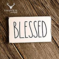 Rustic Blessed Sign | Rustic Wood Sign | Farmhouse Sign | Inspired Rae Dunn Sign | Rustic Home Decor | Farmhouse Home Decor | French Farmhouse Decor | Shabby Chic Decor | Primitive Decor