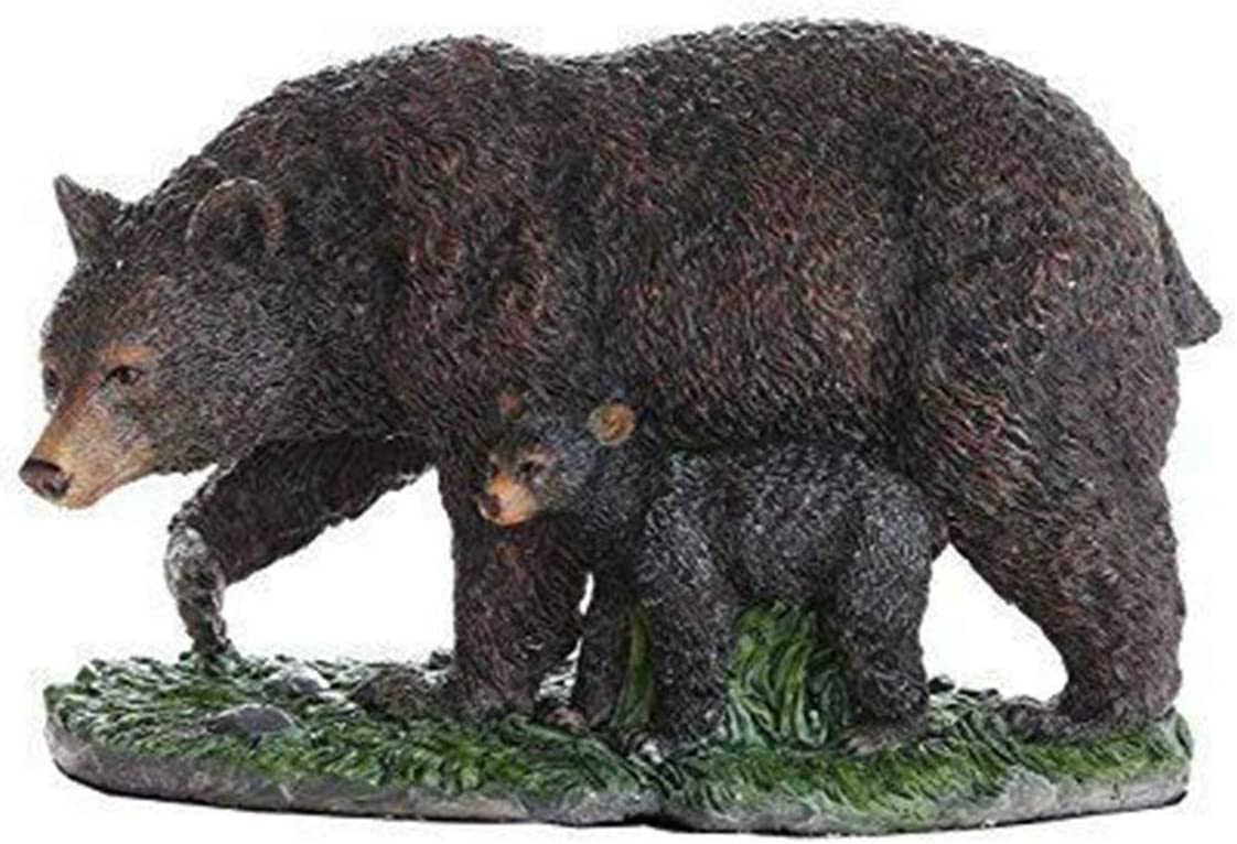 Blue Bright Black Bear and Figurine Cub Max 69% OFF Max 71% OFF Statu Mother Collectible
