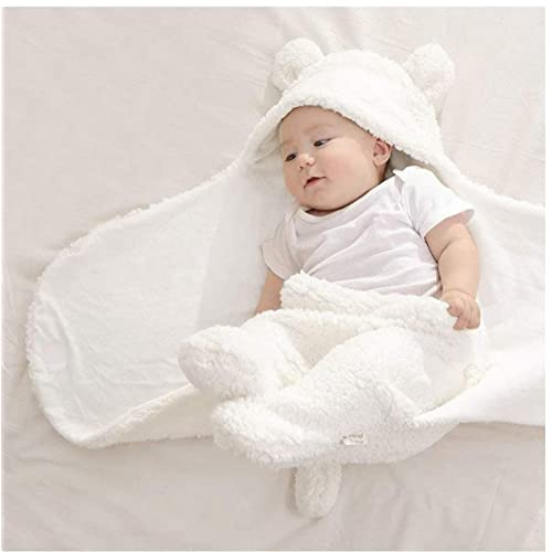 BRANDONN 3 in 1 Baby Blanket/Safety/Sleeping Bag , Off-White