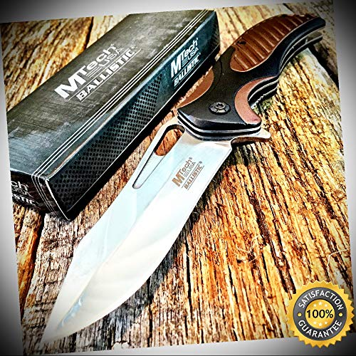 Mirror BLADE M-Tech Spring Assisted Open Rescue Pocket Knife - Outdoor For Camping Hunting Cosplay