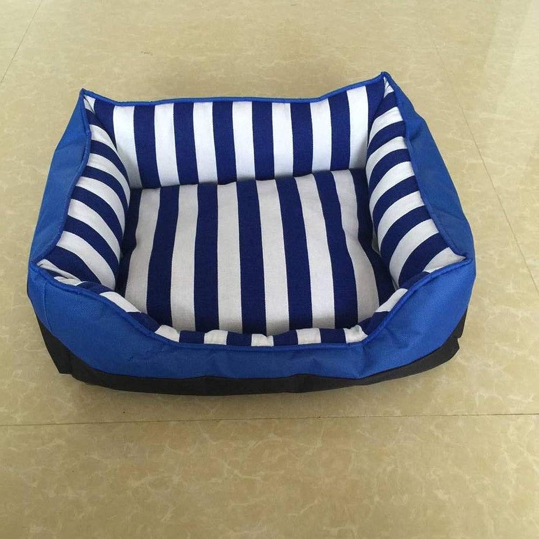 FELICIOO Square Kennel Warm Pet Nest Dog Bed Cat Litter Bed (color   bluee, Size   50  40  16cm)