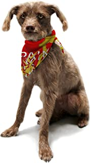 "Kess InHouse Danny Ivan""Spain"" World Cup Pet Bandana and Scarf, 28 by 20 by 20-Inch"