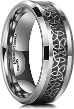 celtic wedding bands white gold