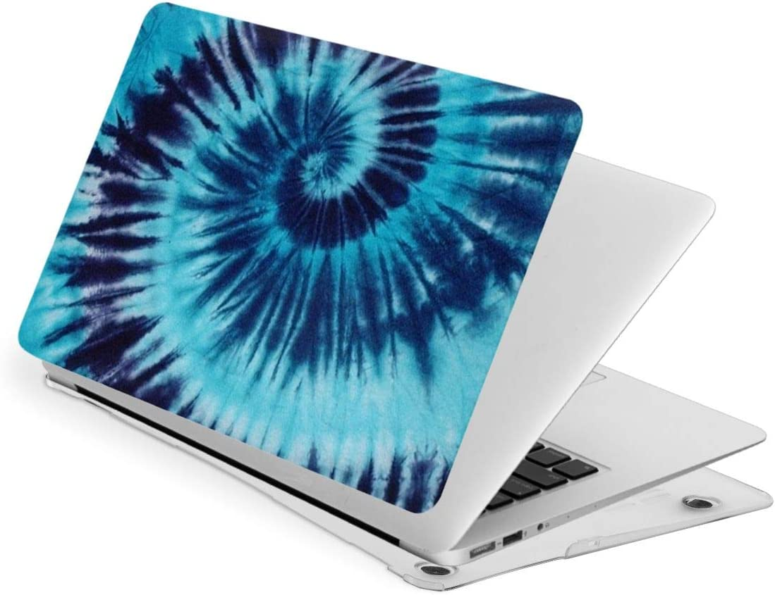 Pekivide Laptop Case for MacBook Tie Dye Blue Swirl Spiral Laptop Computer Hard Shell Cases Cover New Air13 // Air13 // Pro13 // Pro15