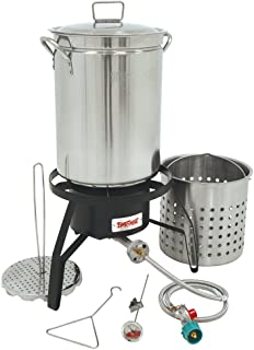 Bayou Classic Propane Turkey Fryer Kit - Burner and 32qt Stainless Steel Pot