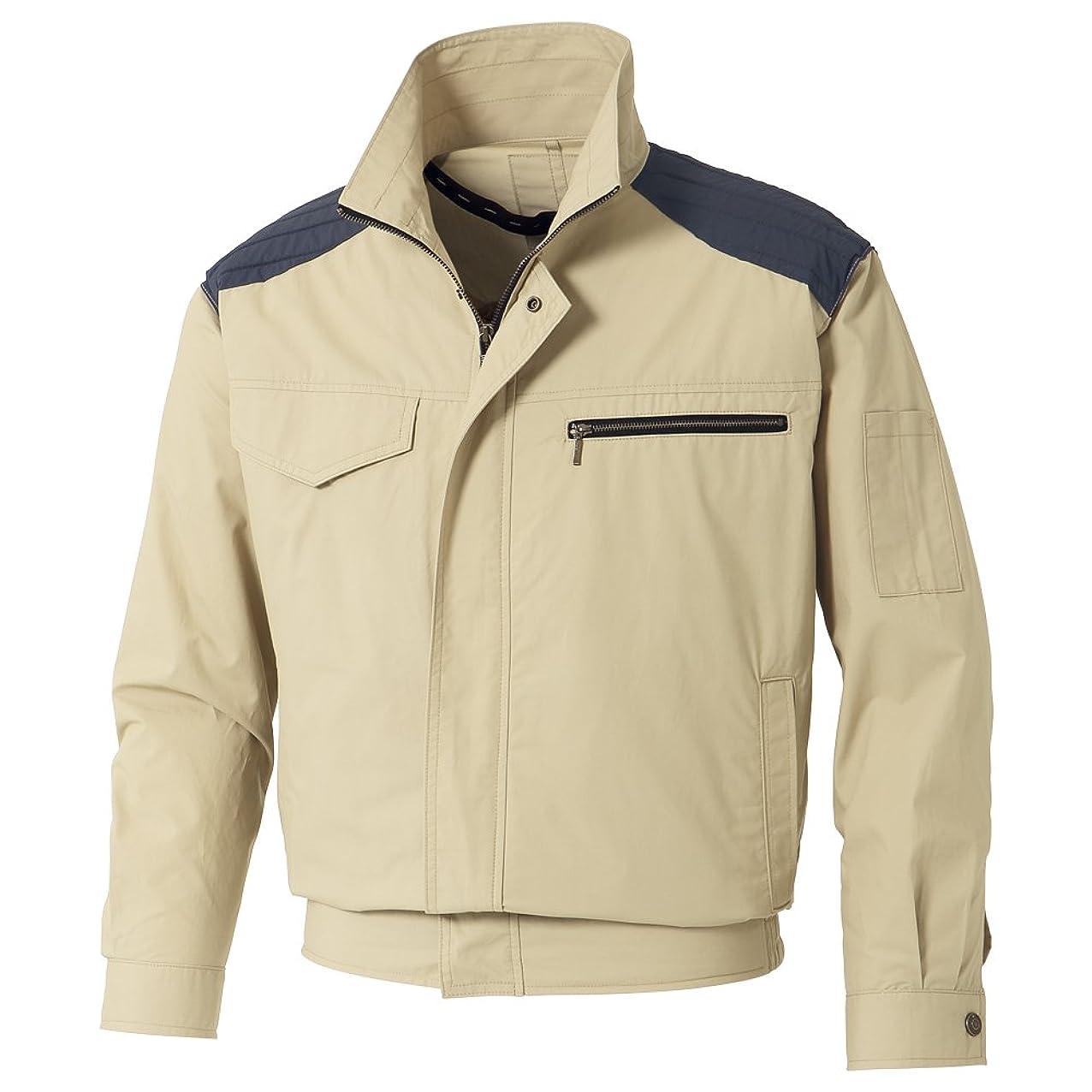 事実上酸化物悪化するサンエス 空調風神服 ※服地のみ 肩パッド付長袖ブルゾン サンドベージュ XL ※取寄品 KU93500-1-XL